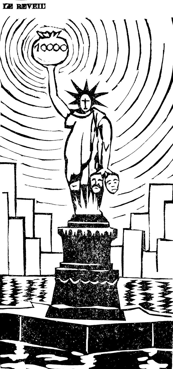 Illustration parue la semaine suivant les émeutes dans le Réveil.